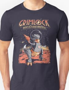 Space Pulp Robot Dinosaur Hero Unisex T-Shirt