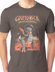 Space Pulp Robot Dinosaur Hero T-Shirt