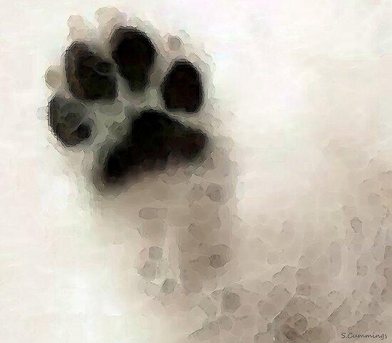 Dog Art - I Paw You by Sharon Cummings