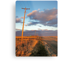 Lonesome Roads Metal Print