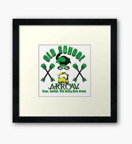 Old School Arrow Framed Print