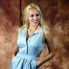 Blond with Powder Blue Dress by photobylorne