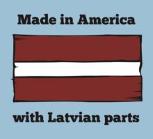 Made In America With Latvian Parts Baby Tee