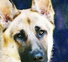 German Shepherd - Soul by Sharon Cummings