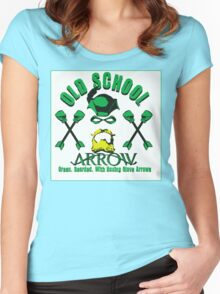 Old School Arrow Women's Fitted Scoop T-Shirt