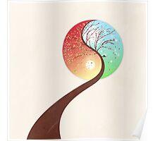 Yin-Yang Tree: Autumn-Spring Poster