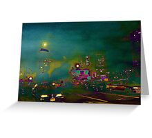 Boston night Greeting Card