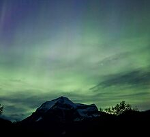 Aurora Borealis, Mt Robson, BC by Andy Townsend