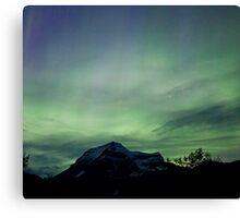 Aurora Borealis, Mt Robson, BC Canvas Print