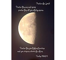 Psalms 148:1, 3-4 Photographic Print