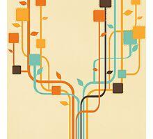 graphic tree Photographic Print