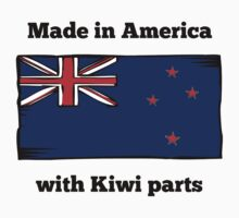Made In America With Kiwi Parts Kids Tee