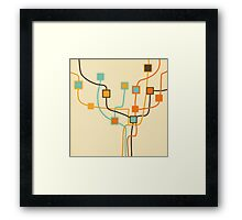 tree pattern and weaving line Framed Print