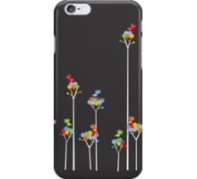 Tweeting Birds (White on Dark) iPhone Case/Skin