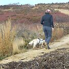 Walking the dog at Wasque by Choux