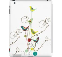 Colorful Whimsical Summer Birds & Swirls iPad Case/Skin