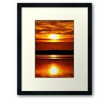 Sun Reflection Framed Print