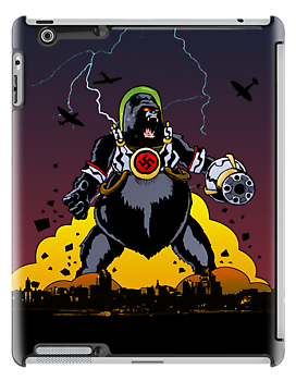 Giant Robot Nazi Gorilla iPad by Ross Robinson