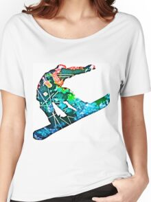 Retro snowboarder Women's Relaxed Fit T-Shirt