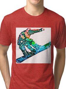 Retro snowboarder Tri-blend T-Shirt