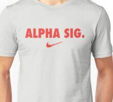 Alpha Sig Swoosh Unisex T-Shirt