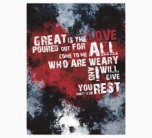 Matt 11:28 Encouragement Verse Kids Clothes