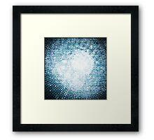 circle mosaic Framed Print