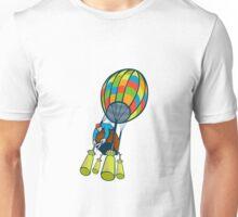 Man Cutting Ballast Hot Air Balloon  Unisex T-Shirt