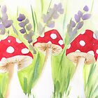 Three Mushrooms by KeLu