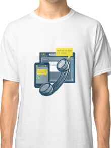 Telephone Smartphone Website Call Back  Classic T-Shirt