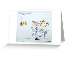 Sheep in concert Greeting Card