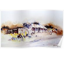 Old Cottage in Outback Australia Poster