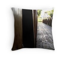 Wooden Bridge 2 Throw Pillow
