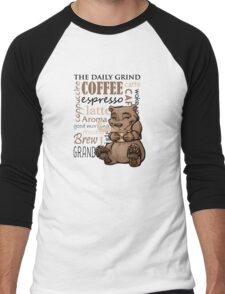 Coffee Bear Men's Baseball ¾ T-Shirt