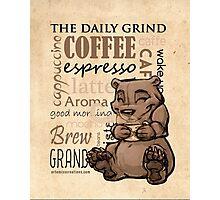 Coffee Bear Photographic Print