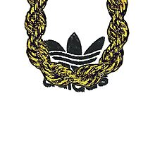 Old School Gold Rope Chain and classic logo 1 - www.art-customized.com by art-customized