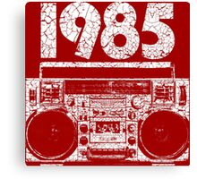 1985 Boombox Distressed Graphic Canvas Print