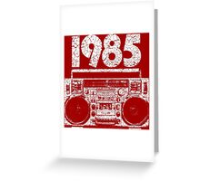 1985 Boombox Distressed Graphic Greeting Card