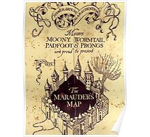 The Marauders Maps castle Poster
