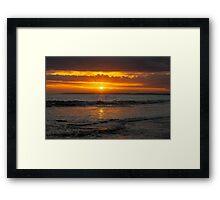 13th Beach Sunset Framed Print