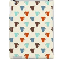 Retro coffee mugs pattern iPad Case/Skin