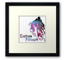 Espresso patronum Galaxy themes Framed Print