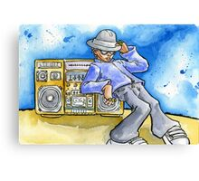 my ghetto blaster is bigger than yours Canvas Print