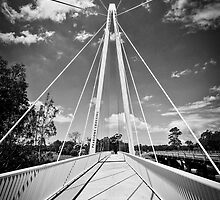 Pearson Crossing Bridge in Black and White by Judith Cahill