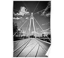 Pearson Crossing Bridge in Black and White Poster