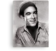 Anthony Quinn Hollywood icon by John Springfield Canvas Print
