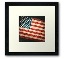 America flag Framed Print