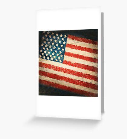 America flag Greeting Card