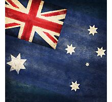Australia  flag Photographic Print