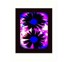 FUNKY IPHONE COVER - TWO DAISIES Art Print